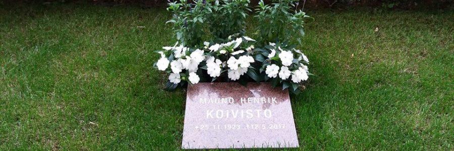 Millainen muistomerkki presidentti Koivistolle?