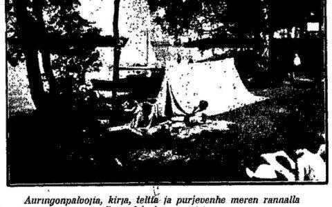 Helsingin Sanomat Kivinokassa kesällä 1931