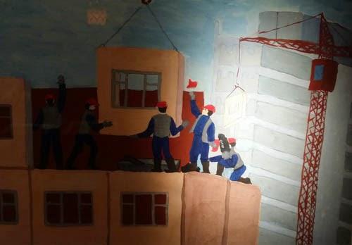 Piirustuksia neuvostolasten elämästä