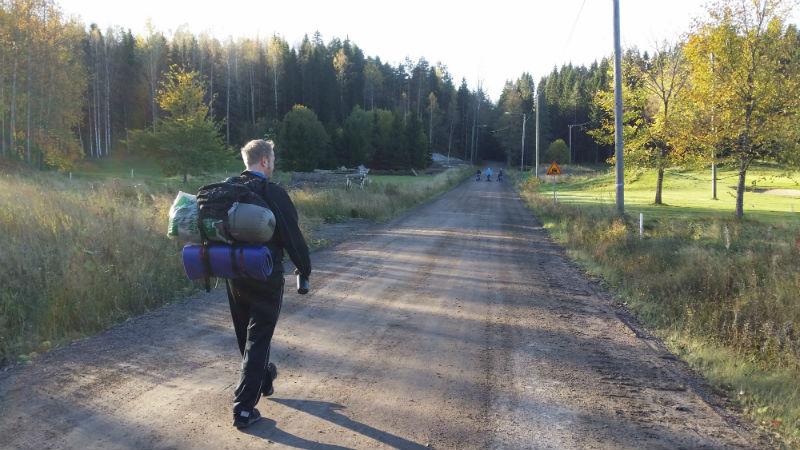55 kilometrin ruskapatikointi Nuuksiossa