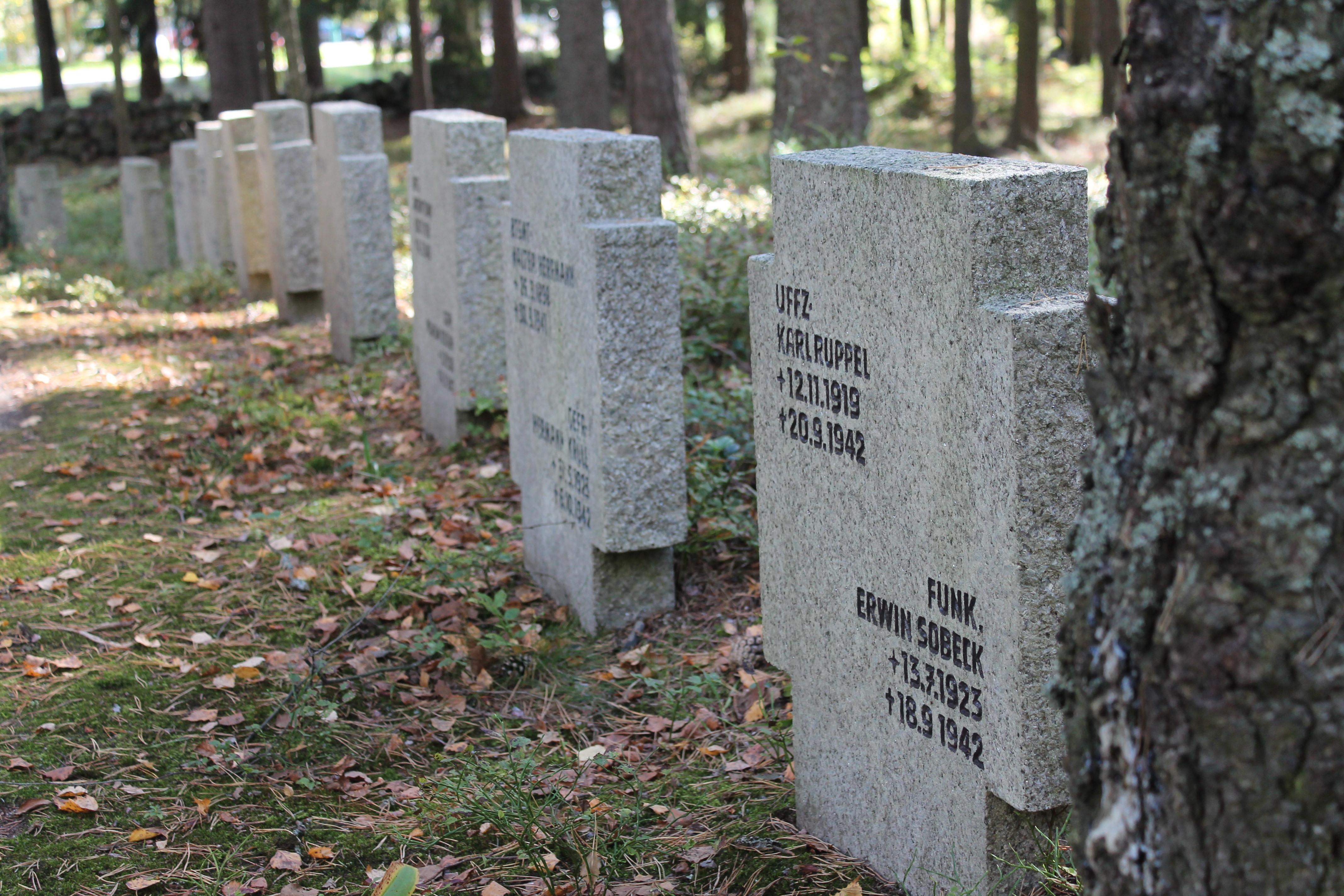 Saksalaisten sotilaiden hautausmaa Honkanummella